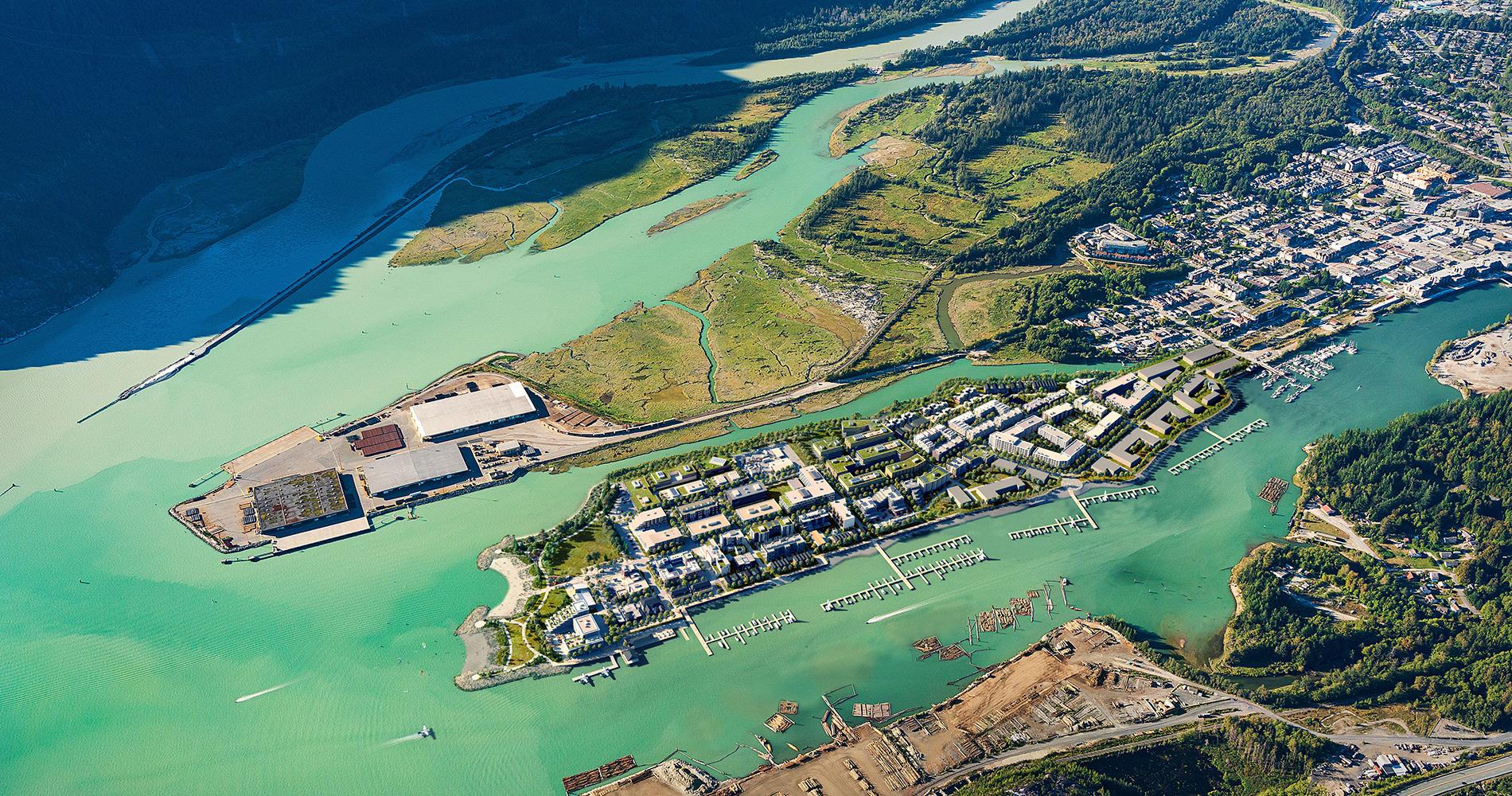 Oceanfront Aerial Rendering Master Plan Community