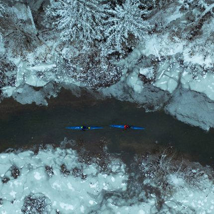 Squamish River Kayakers by Dylan Wolsky